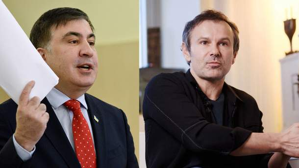 Михаил Саакашвили и Святослав Вакарчук