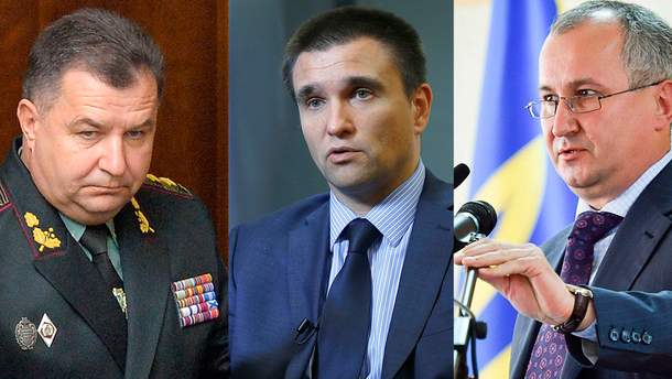 Голови МЗС, СБУ та Міноборони, на думку президента, повинні піти у відставку