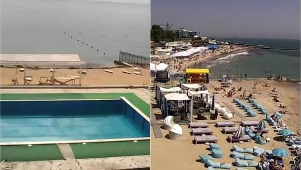 Пляжи в Одессе и оккупированном Крыму