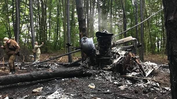 Причина аварія Мі-8 на Рівненщині - чому впав військовий вертоліт