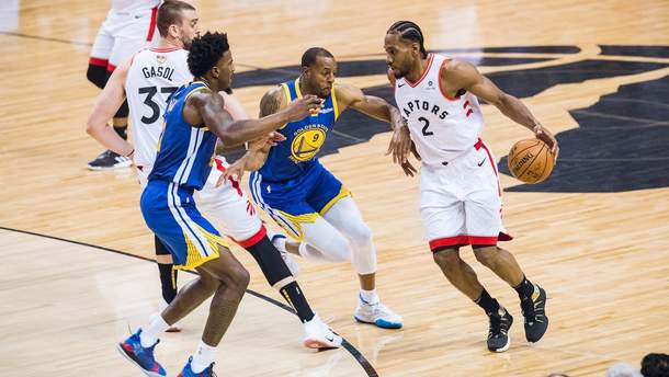 """""""Торонто"""" виграв перший матч фіналу НБА в """"Голден Стейт"""": відео"""