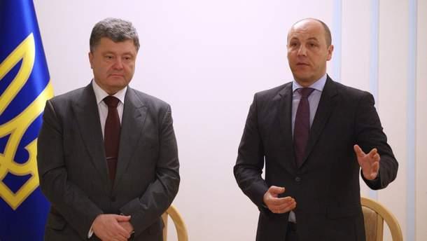Порошенко и Парубий будут баллотироваться в Раду вместе