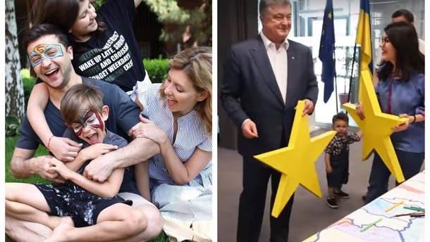 Порошенко і Зеленський поділилися в мережі дописами до Дня захисту дітей