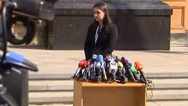 Новоназначенная пресс-секретарь президента Юлия Мендель