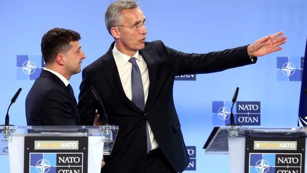 Зеленский встретился с генеральным секретарем НАТО Йенсом Столтенбергом