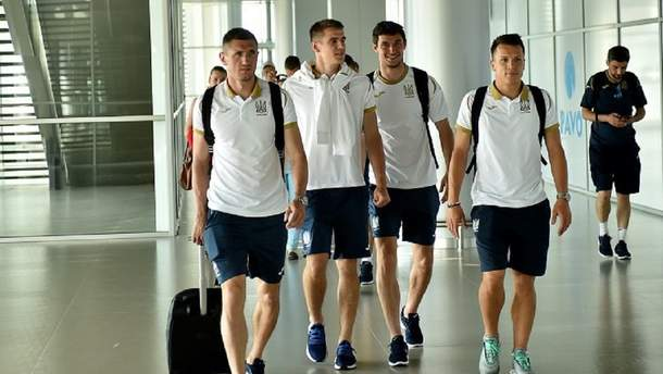 Сборная Украины по футболу прибыла во Львов