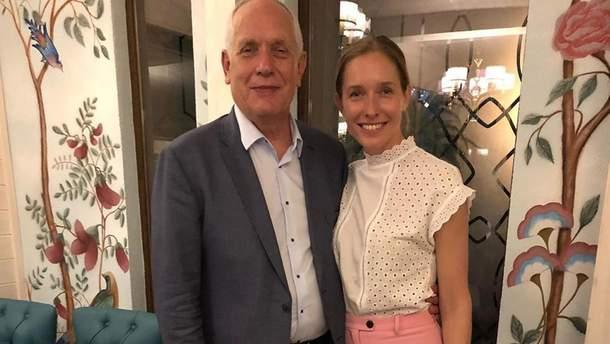Катя Осадчая с отцом