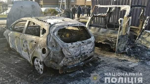 Спалене авто Василя Крутчака