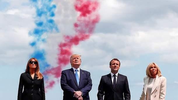 Дональд и Мелания Трамп во Франции