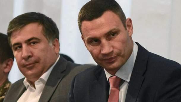 Міхеїл Саакашвілі та Віталій Кличко
