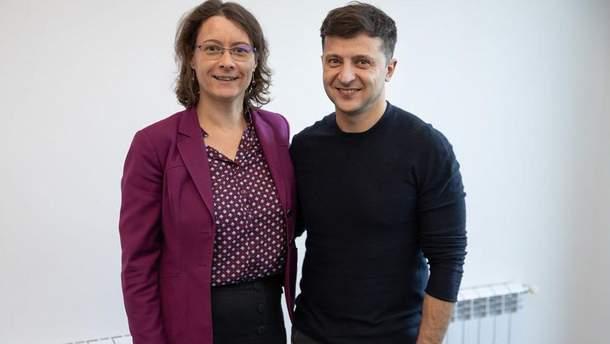Ізабель Дюмон та Володимир Зеленський