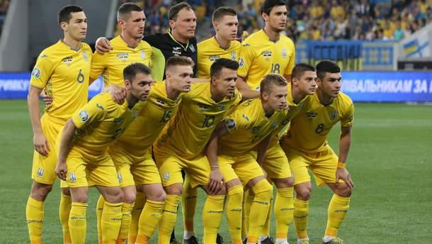 Збірна України у матчі протиСербії