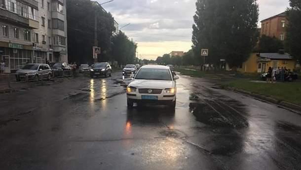 Місце у Конотопі, де авто поліції наїхало на 10-річного хлопчика