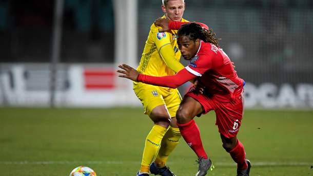 Жерсон Родригеш в матче против сборной Украины
