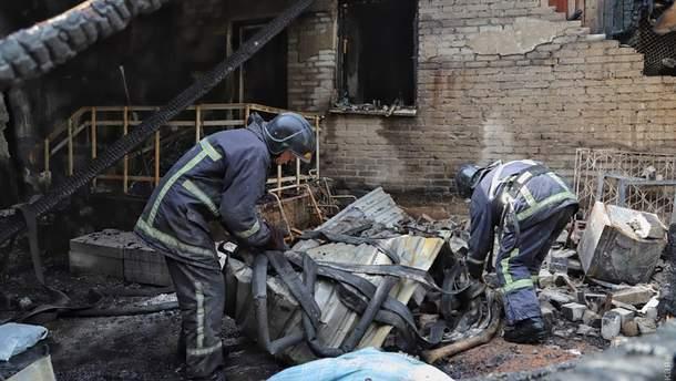 Фото сгоревшей одесской психбольницы