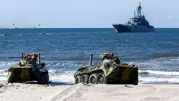 В Россия на военных учениях утонул морпех