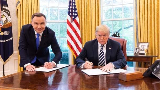 Анджей Дуда та Дональд Трамп
