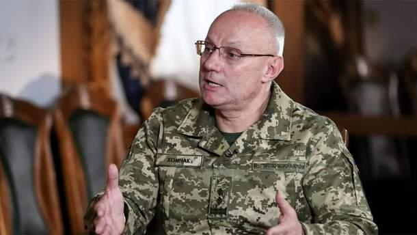 Новопризначений голова Генштабу Хомчак розповів про стосунки з Полтораком