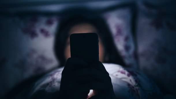 Телефон заважає спати