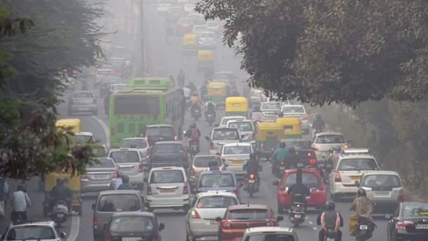В Киеве зафиксирован высокий уровень загрязнения воздуха