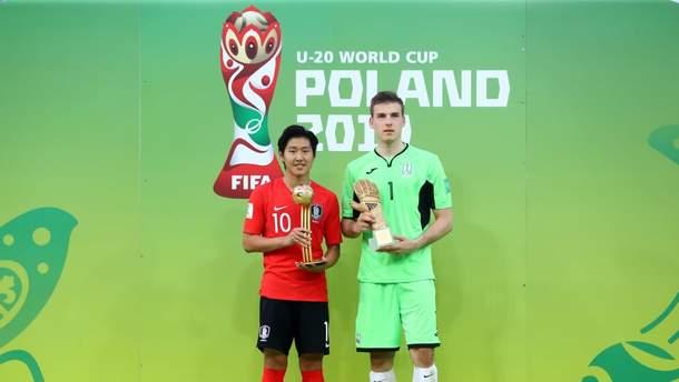 Лунин получил награду лучшего вратаря ЧМ U-20