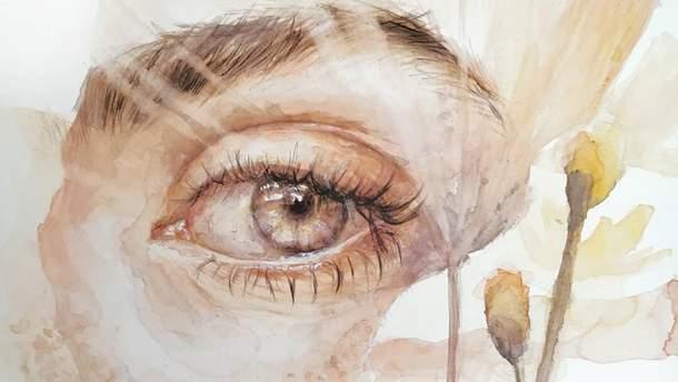 Как будто смотрят на тебя с экрана: бельгийская художница реалистично рисует человеческие глаза