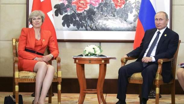Тереза Мей і Володимир Путін
