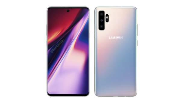Вероятный дизайн смартфона Samsung Galaxy Note 10