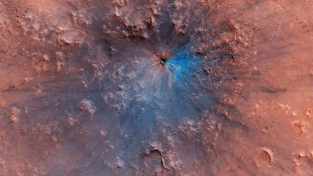 Як виглядає кратер на Марсі