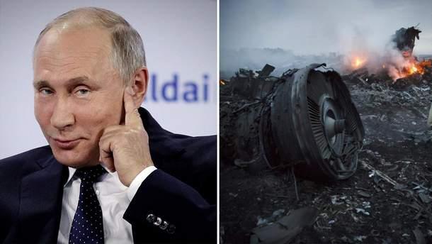 Путин не увидел доказательств вины России в сбивании самолета MH17