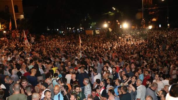 Протесты в Грузии начались 20 июня