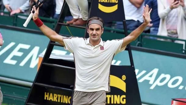 Швейцарський тенісист Федерер виграв 102-й титул у кар'єрі