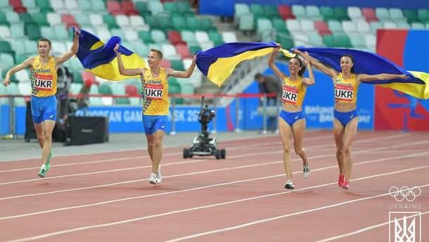 Сборная Украины завоевала золотую медаль в комбинированной эстафете