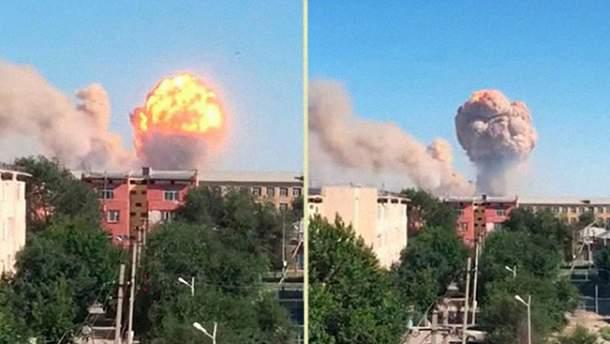 В Казахстані вибухнув склад з боєприпасами