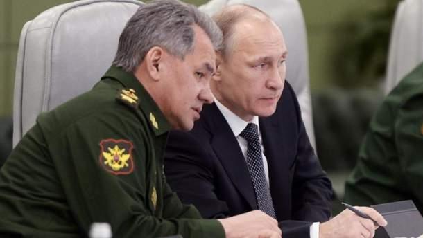 Володимир Путін та Сергій Шойгу