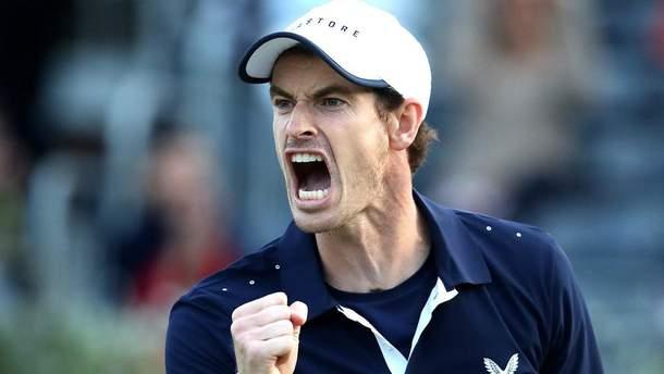 Британский теннисист Маррей возобновил карьеру и выиграл турнир с металлическим бедром: видео