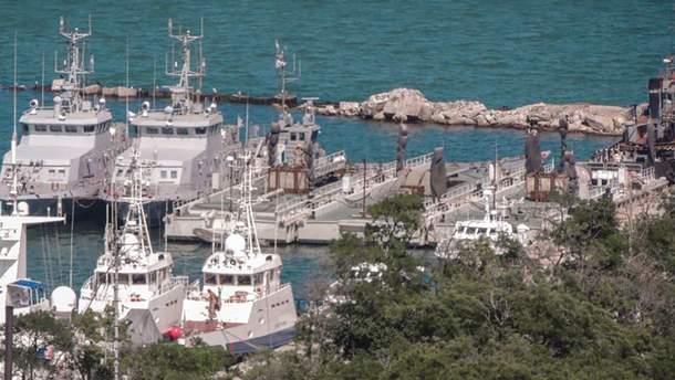 Захваченные украинские корабли в Керчи