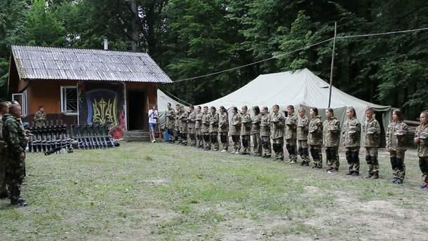 На Прикарпатті триває військово-патріотичний вишкіл для дітей: фото, відео