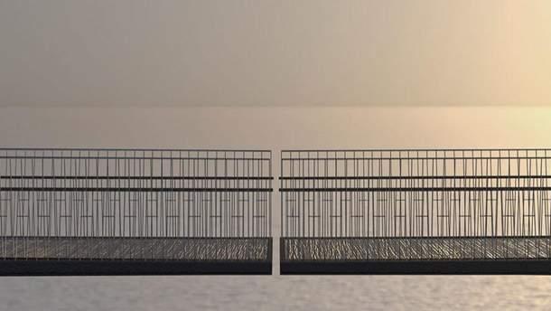 Міст зі щілиною добудовують в Англії