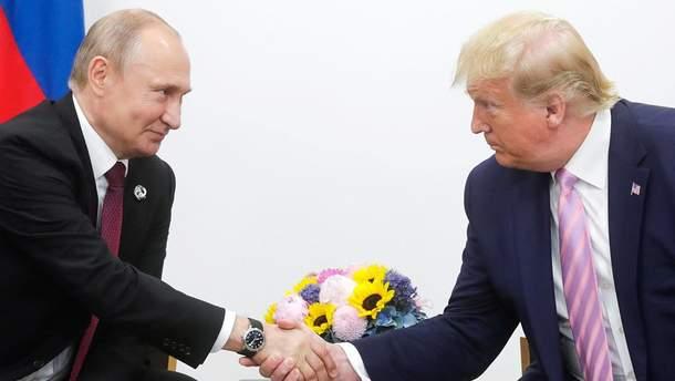 Путін і Трамп на саміті G20 в Осаці