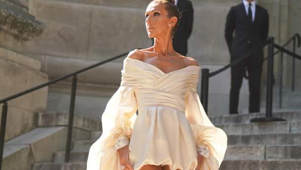 Селин Дион на Неделе моды в Париже