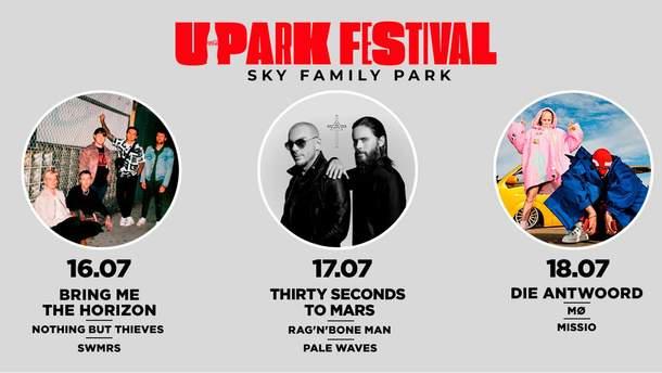 Райдеры звезд UPark Festival