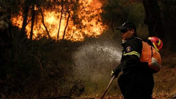 На грецькому острові Евія спалахнули пожежі