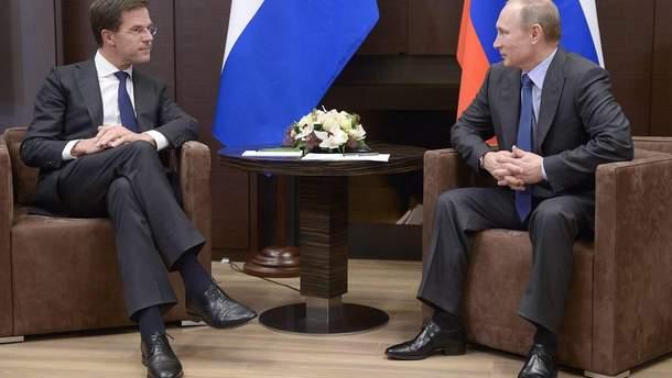 Премьер Нидерландов провел секретные переговоры с Путиным о MH17