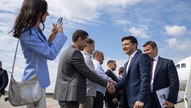 Зеленский посетил Западную Украину