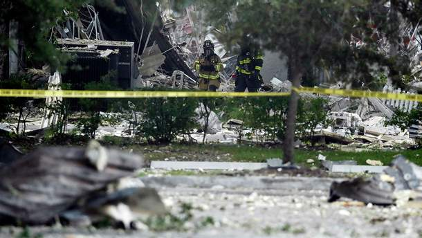 Появилось видео с места взрыва