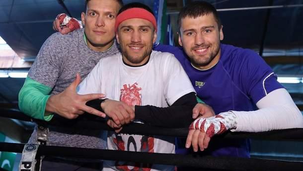 Усик и Гвоздик приняли участие в предвыборной агитации