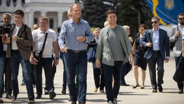 Зеленський з Туском поїхали на Донбас