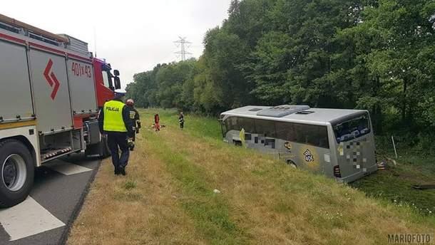 Український автобус перекинувся у Польщі