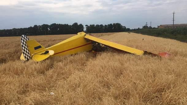 В Полтавской области упал самолет, погиб человек